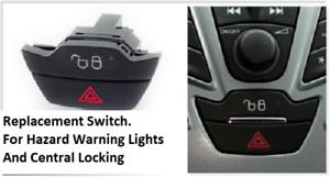 Ford-Fiesta-UK-Mk6-2008-gt-Luces-De-Emergencia-Interruptor-para-y-cierre-centralizado