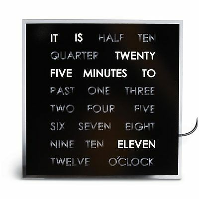 The Word Clock - Shows the Time in a Sentence - Desk Stand or Wall Hang