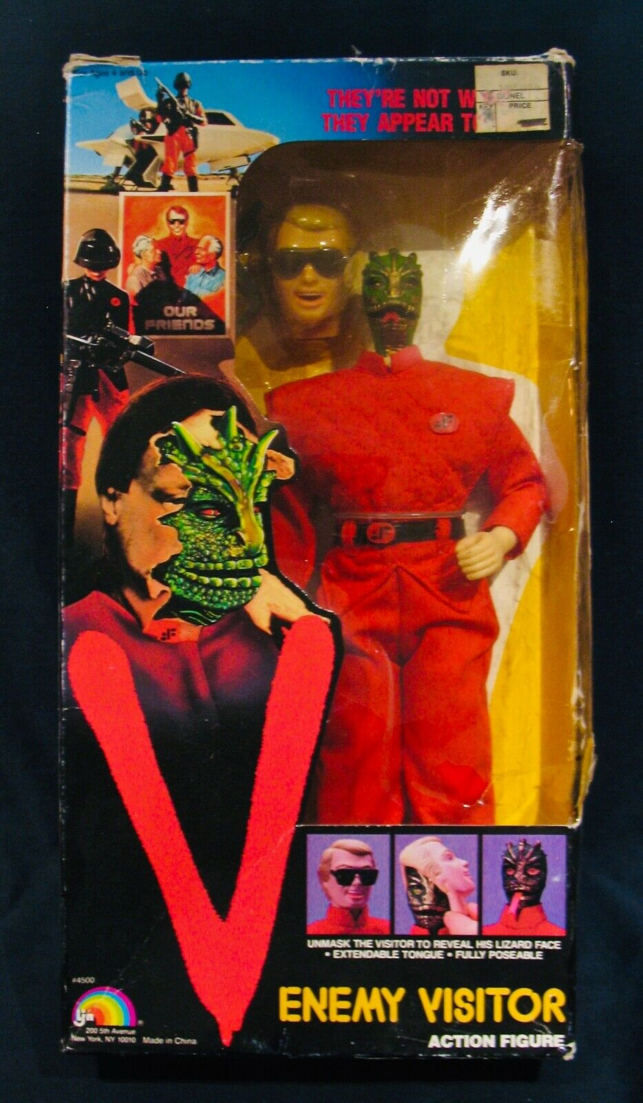 V  Enemy Visitor  Action Figure Doll From The  V  TV ShowUnopened-Warner Bros.