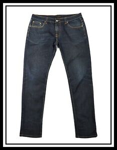 Nudie Mens Slim Fit Stretch Jeans Thin Finn Black Bluenew with small defects