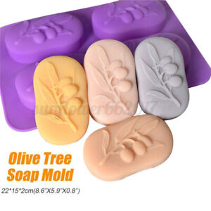 Food-Grade-DIY-Crafts-Soap-Making-Mould-Cake-Baking-Tool-Silicone-Olive-TreeMol