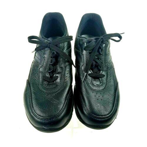 SAS Journey Mens Black Leather Active Comfort Walking Sneakers Shoes 8.5W