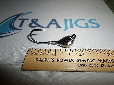 Lot of 30 Great Quality  Sparkie JIG HEADS 1//2 OZ on Mustad 3//0 Black Nickel T/&A