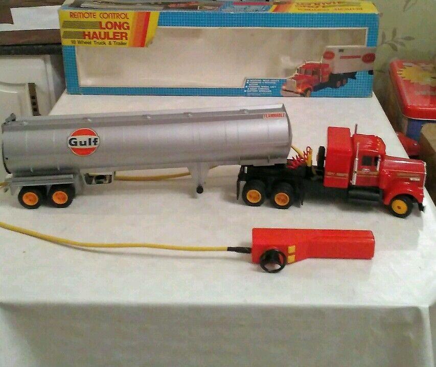 Vintage 1970s  Large Remote Control GULF  LONG HAULER   Petrol Tanker