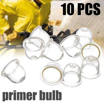 10pcs Fuel Pump Carburetor Primer Bulb for Chainsaws Trimmer Brushcutter Clear