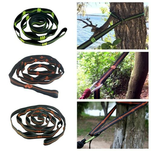Camping Tree Hanging Hammock Straps Climbing Rope Durable Extend Stretch Belt ai