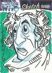 Dr-Doctor-Who-Trilogy-Sketch-Card-drawn-by-Thomas-Hodges-of-The-4th-Doctor-A