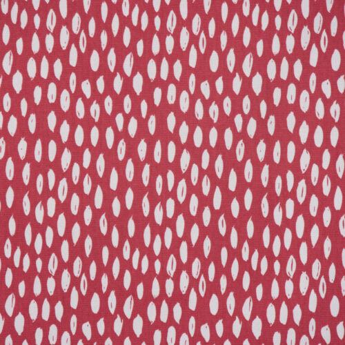 Dekostoff Bayside Honeydew rot mit Kleksen Tropfen 1,38m Breite