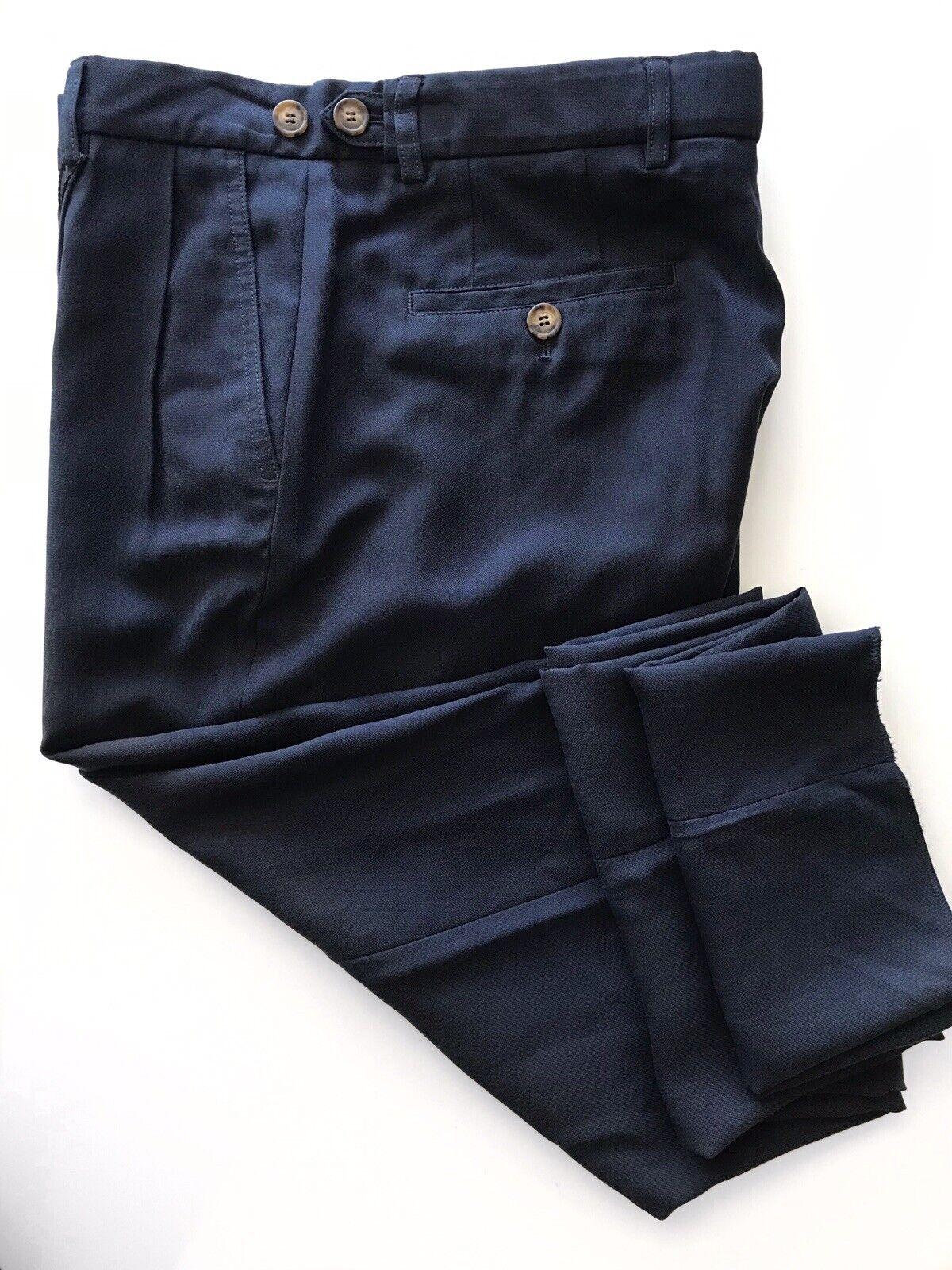 New  Giorgio Armani Men's Cotton Navy Casual Pants Size 34US (50 Eu)