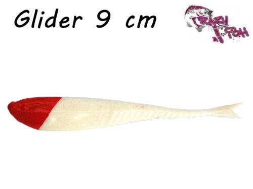 Crazy Fish Glider 9 cm Dropshot Barsch Zander Floating