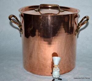 French Copper Pan 7lt Marmite Mauviel Stock Pot Faitout 2
