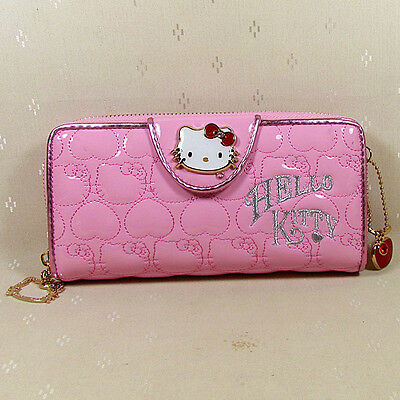 HelloKitty Zipper Pendant Wallet Purse 2017  New Cute Pu Pink Long Size