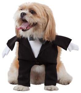 Deguisement-de-SMOKING-pour-Chien-M-un-Costume-de-MARIE-pour-Animal-NEUF