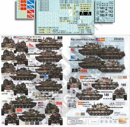 356238 Echelon Decals 1//35 M60A3S IN Europa Opfor Units /& Andere