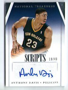 Details About Anthony Davis 2013 14 Panini National Treasures Auto Autograph Card 19 49