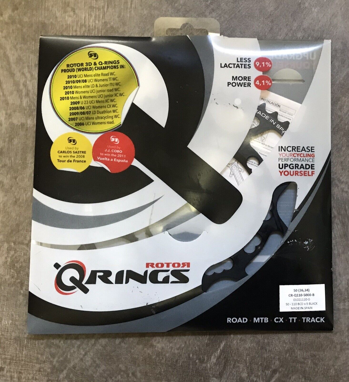 redor  Q Ring 50T 110bcd 5 Bolt Oval Chainring  the classic style