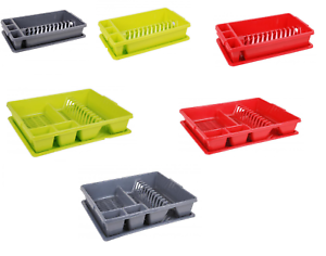 Plastic-Dish-Drainer-Plate-Cutlery-Rack-Kitchen-Sink-Utensil-Draining-Cup-Holder