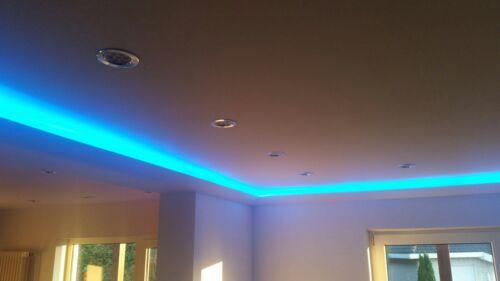 20m+4 Ecken Indirekte Beleuchtung LED Lichtprofile Wand Stuckleiste Profil BL 04