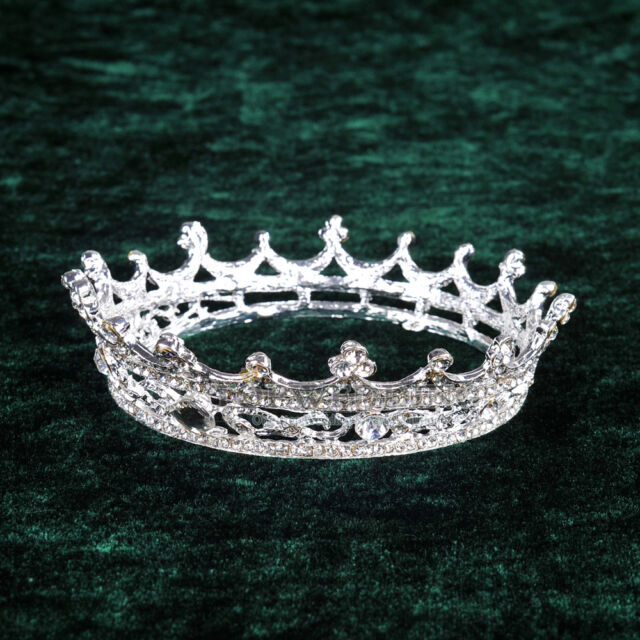 Crown Crystal Rhinestone Wedding Pageant Tiara Diamante Hairband Bridal Jewelry