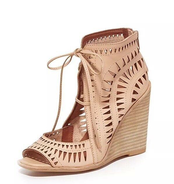 155. 155. 155. jeffrey campbell Nude Wedges Dimensione 6. NWT 38a5bd