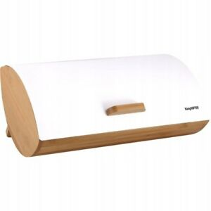 Acier Inoxydable Huche Pain brotkiste Bambou Box 35x25x15,5cm eco blanc