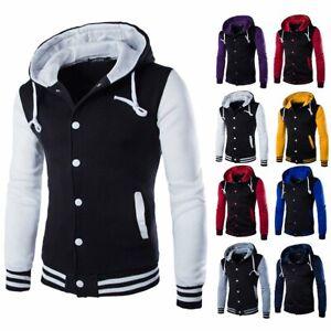 Men-039-s-Winter-Warm-Hoodies-Slim-Hooded-Sweatshirt-Sweater-Coat-Jacket-Outwear