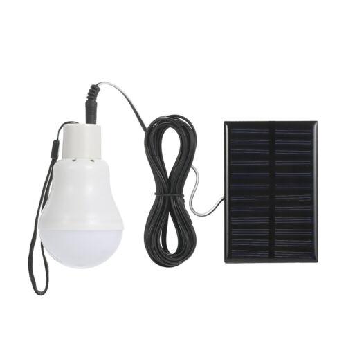 Solar Powered Energy Lampadina a LED con pannello solare appeso Design IP44 N8B2
