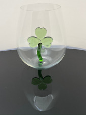 The 3D Stemless Shamrock Wine Glass™ Crystal - Featured On Delish.com, HouseBeau