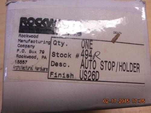 Rockwood 494 /& 494R US26D 626 heavy duty wall mounted stop holders