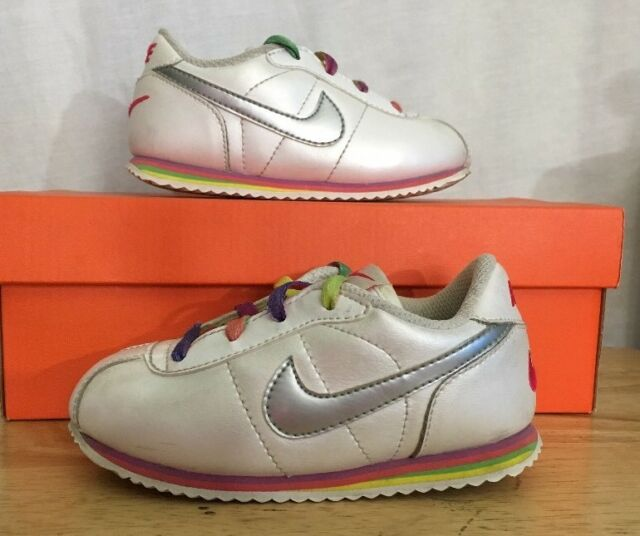 hot sale online 75f4e b6c54 NIKE CORTEZ Shoes Baby Toddler Size 8C Pearl And Rainbow