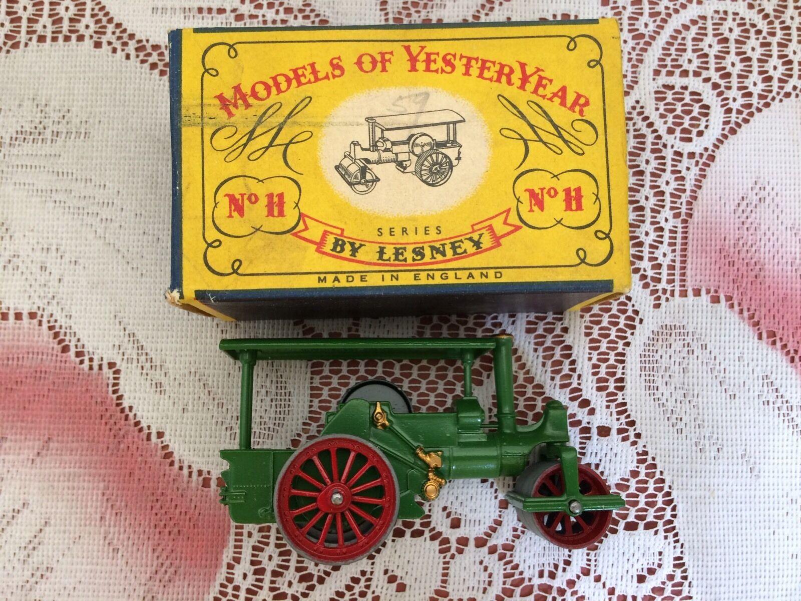 Lesney Vintage Rouleau compresseur Nº H DIE CAST Rare Comme  neuf  direct usine