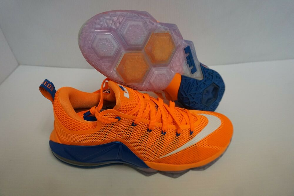 Nike Lebron Xii Bas Basketball Hommes Chaussures Brillant Citron Taille 9 Us
