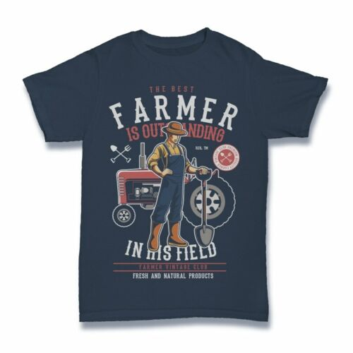Farmer Tshirt funny tractor cartoon S-3XL