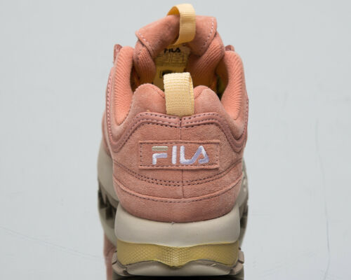 Fila Disruptor S Low Womens Salmon Sneakers Casual Chunky Shoes 1010605-71B