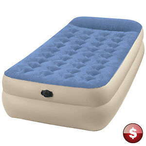 INTEX TWIN Raised AIR BED MATTRESS Inflatable Blow Up
