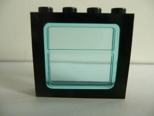 vidrio azul claro raras 1 x lego ® ferrocarril ventana 1x4x3 negro