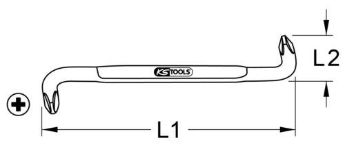 KS Tools Winkelschraubendreher PH3-PH4