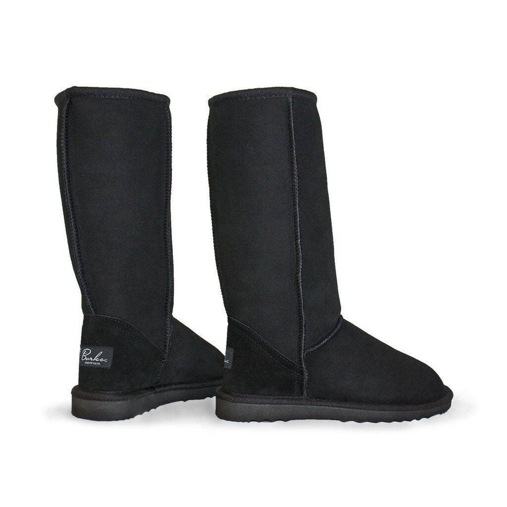 Women Burlee Sheepskin Boot Made In Australia Classic Tall Black 100% Original