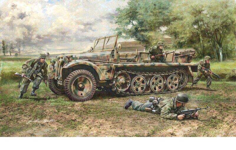 Italeri 1 35 SdKfz 10 Demag D7 with German Paratroopers