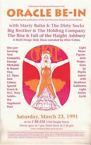 SAN-FRANCISCO-ORACLE-BE-IN-HANDBILL-MARCH-1991-MARTY-BALIN-BIG-BROTHER-HOLDING