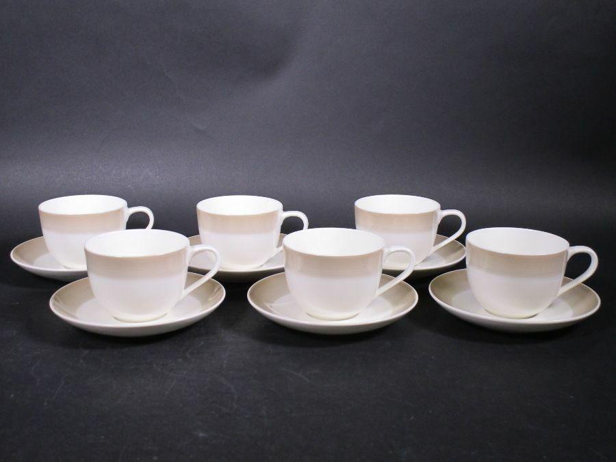 VILLEROY & BOCH 6 x Colourful Life Nat. Cotton Tasse à café avec soucoupe nwh44