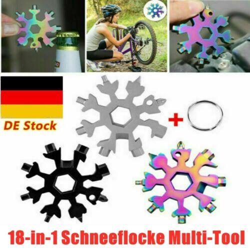 DE 18-in-1 Multitools Schneeflocke Werkzeugkarte Kombination Compact Outdoor Neu