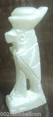 "Egypt 3D Marble Rare Mummy Pharaoh Figure Statue Horus Ancient 2"" Sculpture  201"