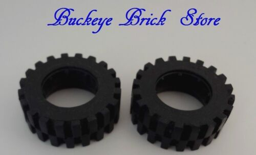 LEGO Black Tire 30 x 10.5 Offset Tread Lot//2