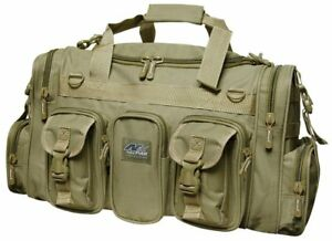 Large Gun Gear Range Bag Tan Pistol Ammo Storage 22 Quot Luggage Sports Duffle New Ebay