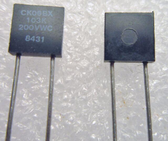 Monolythic Capacitors,Kemet,CK05BX681K,680pF 200Volt 10/%,Radial,25 Pcs