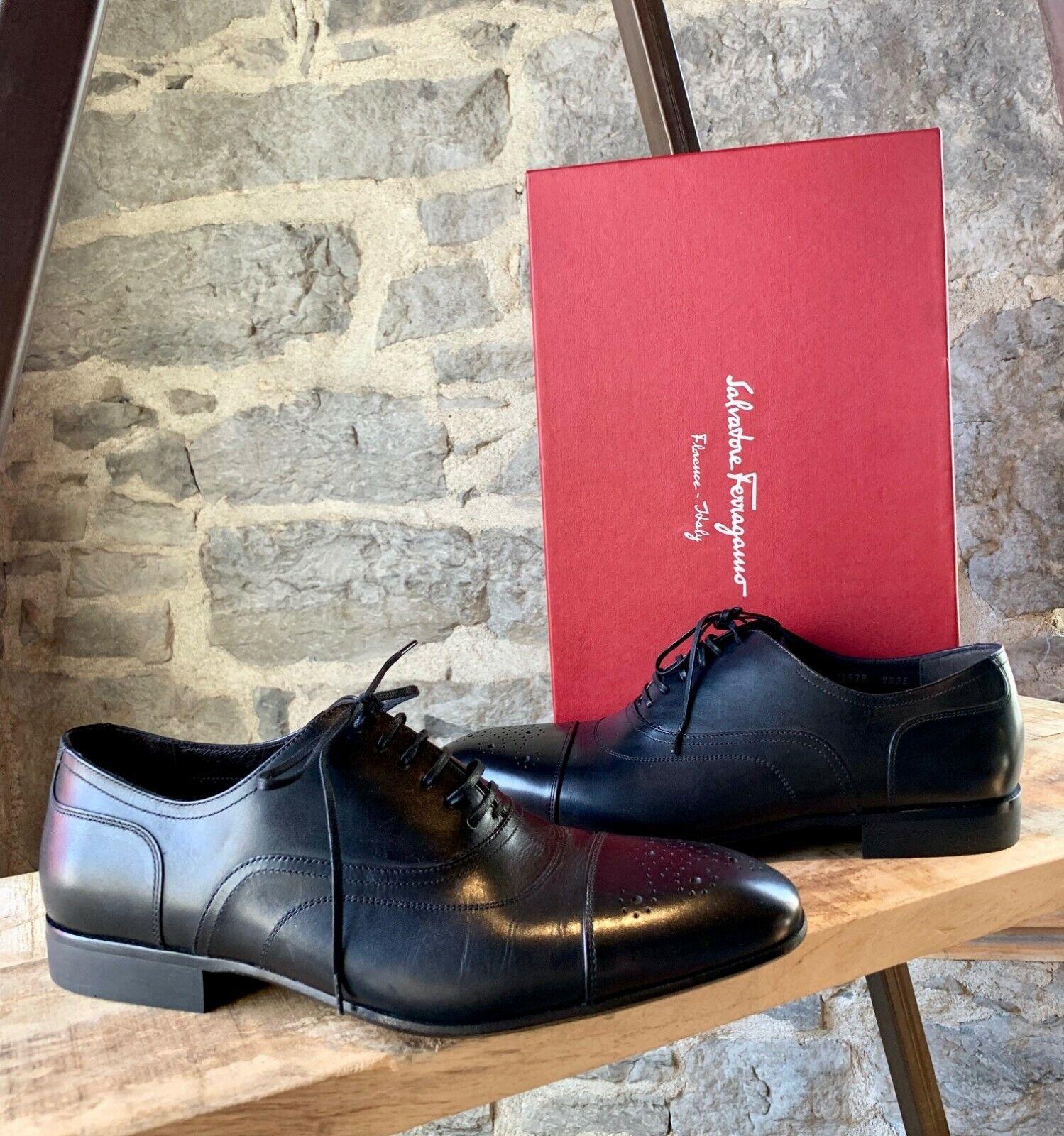 Salvatore Ferragamo Black Oxford Lace-up shoes - Size 8.5 UK - 9.5 US - 42.5 IT