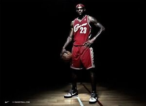 buy online 952f8 690aa Image is loading 24-inches-X-36-inches-LEBRON-JAMES-NIKE-