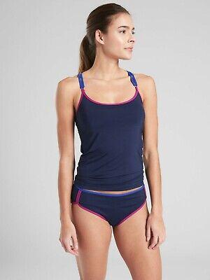 C #386329 NWT Athleta Twist Up Tankini Dress Blue Size 34B//C 34 B