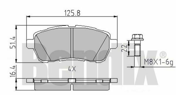 Kit Pastiglie Freno BENDIX 510630